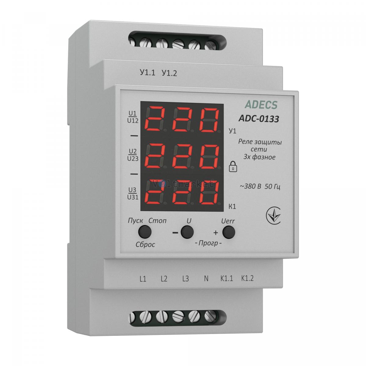 Устройство защиты сети трёхфазное ADECS ADC-0133