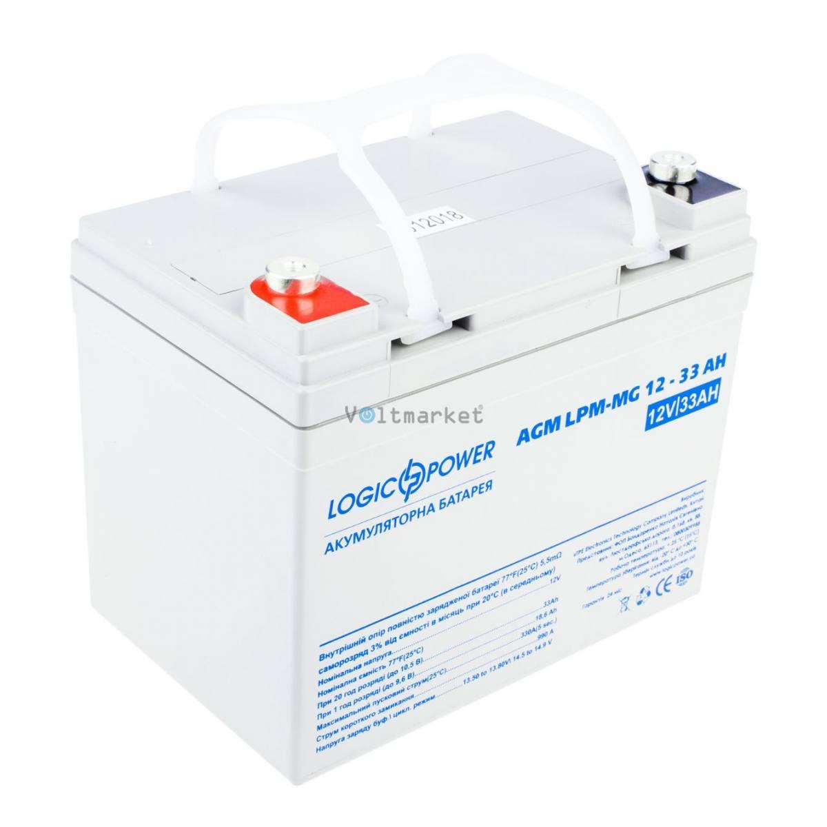 Мультигелевые аккумуляторные батареи LOGICPOWER LP-MG 12V 33AH