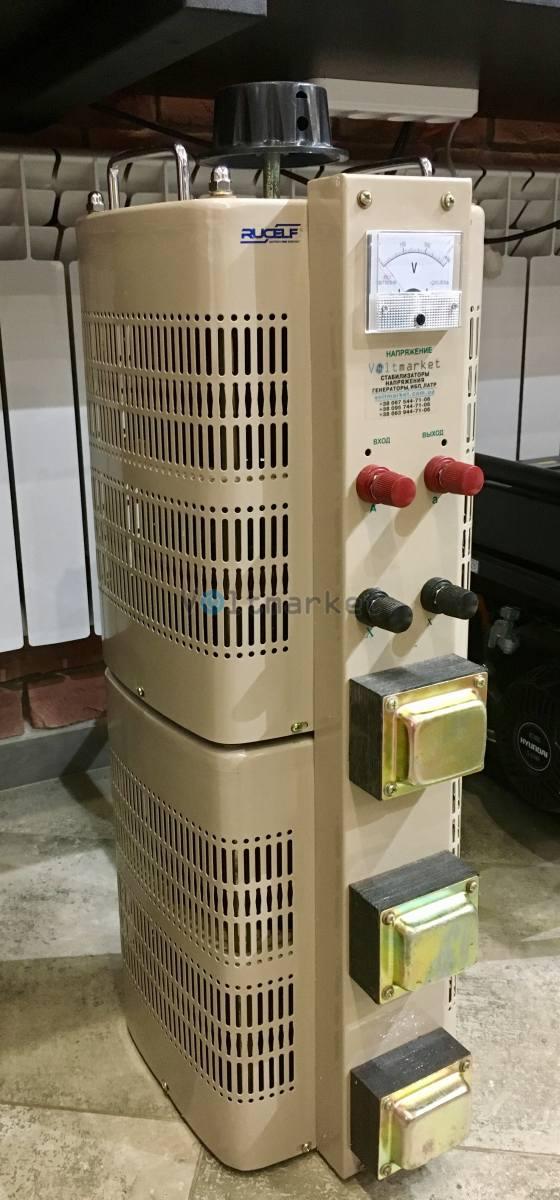Лабораторный автотрансформатор регулируемый RUCELF LTC-20000