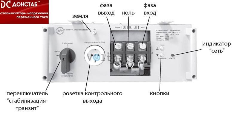 Электронный однофазный стабилизатор напряжения Донстаб СНПТО-27