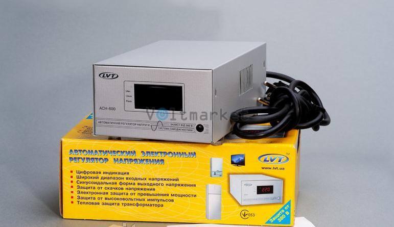 Релейный однофазный стабилизатор напряжения LVT АСН-600