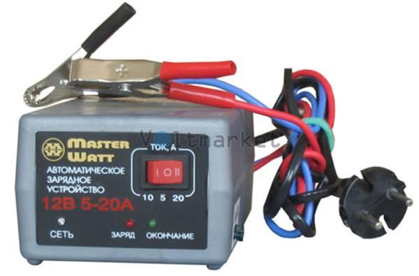 Автоматическое зарядное устройство MASTER WATT АЗУ 20А 12В