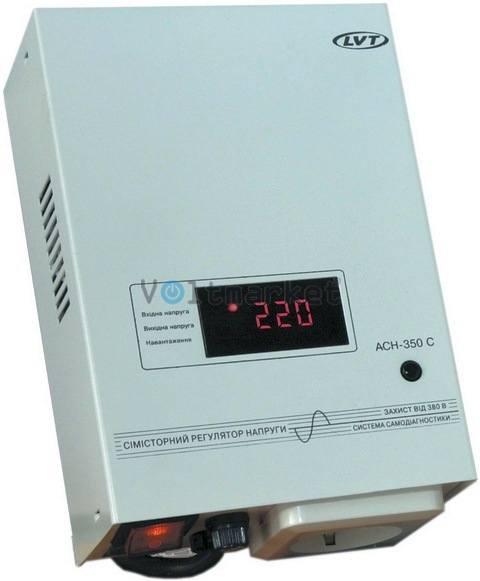 Электронный стабилизатор напряжения LVT АСН-350С