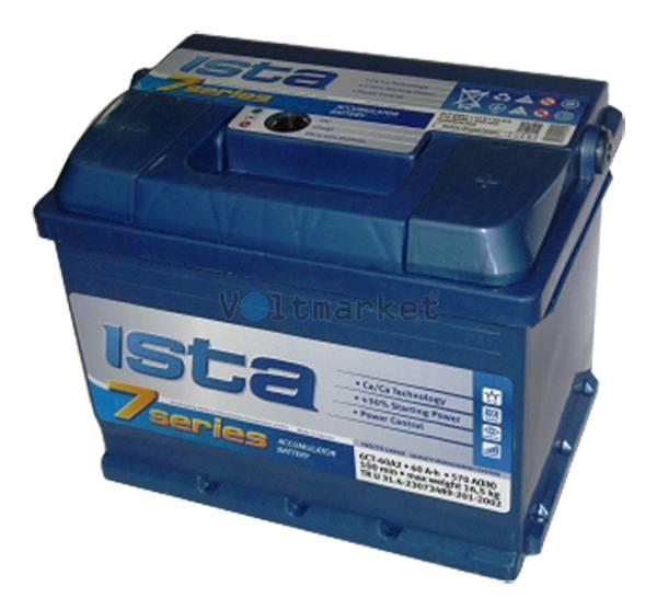 Аккумуляторная батарея ISTA 7 SERIES 6СТ-60 A2 560 22 04 R+