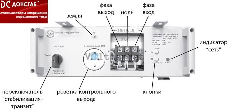 Электронный однофазный стабилизатор напряжения Донстаб СНПТО-11