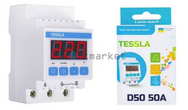 Реле напряжения TESSLA D50 50 A