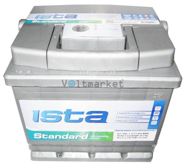 Аккумуляторная батарея ISTA Standard 6СТ-50 A1 550 04 02 L+