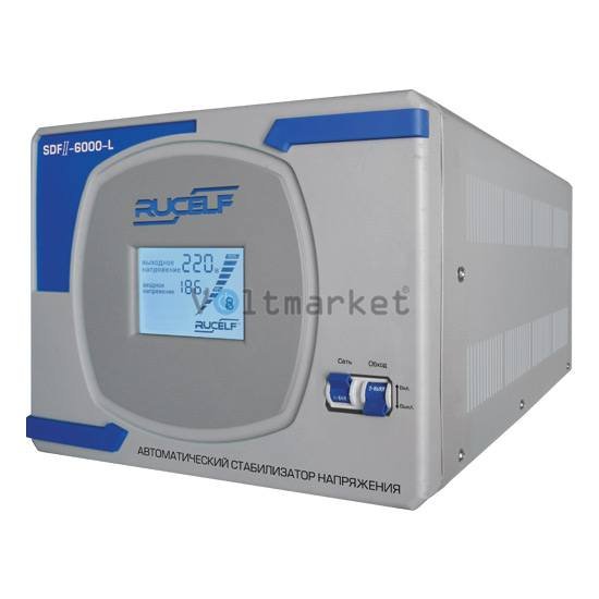 Стабилизатор напряжения однофазный RUCELF SDF-II-4000-L
