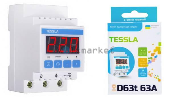 Реле напряжения TESSLA D63t 63A