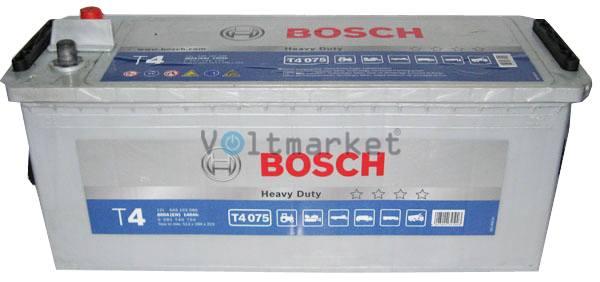 Аккумулятор стартерный BOSCH 6СТ-140 0092T40750 L+