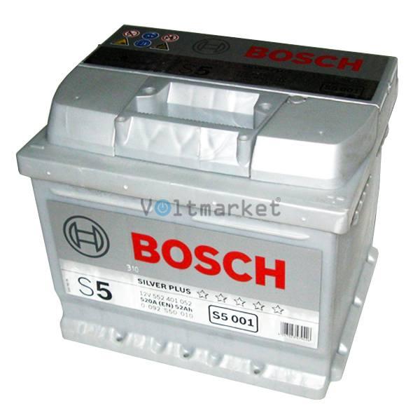 Аккумулятор стартерный BOSCH 6СТ-52Н 0092S50010 R+
