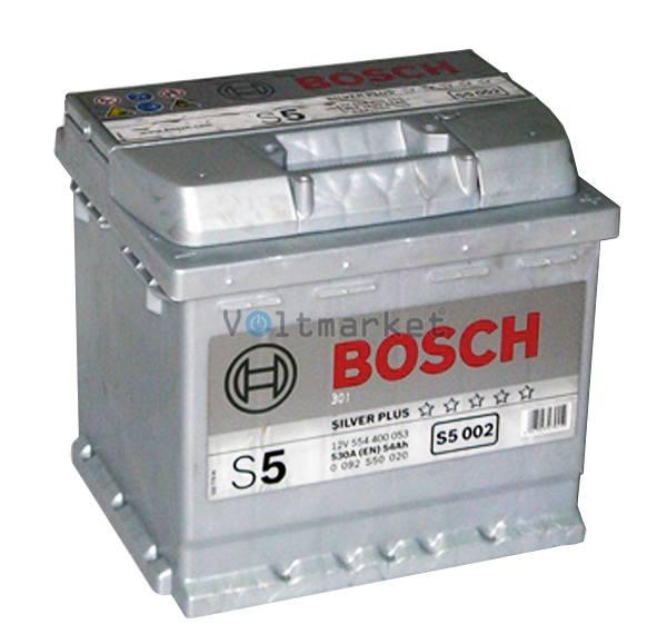 Аккумулятор стартерный BOSCH 6СТ-54 0092S50020 R+