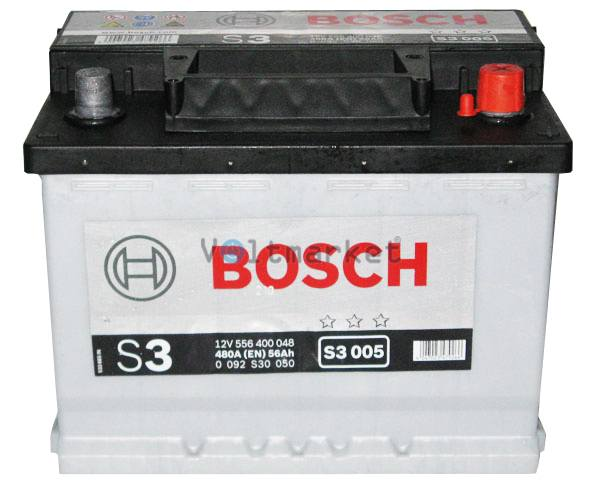 Аккумулятор стартерный BOSCH 6СТ-56 0092S30050 R+