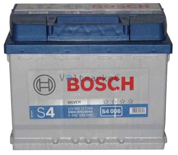Аккумулятор стартерный BOSCH 6СТ-60 0092S40060 L+