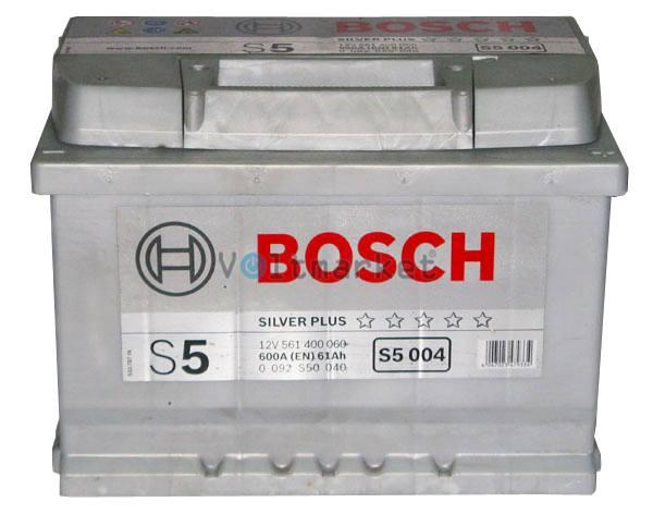 Аккумулятор стартерный BOSCH 6СТ-61Н 0092S50040 R+
