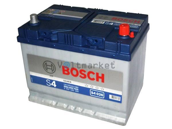 Аккумулятор стартерный BOSCH 6СТ-70 0092S40260 R+