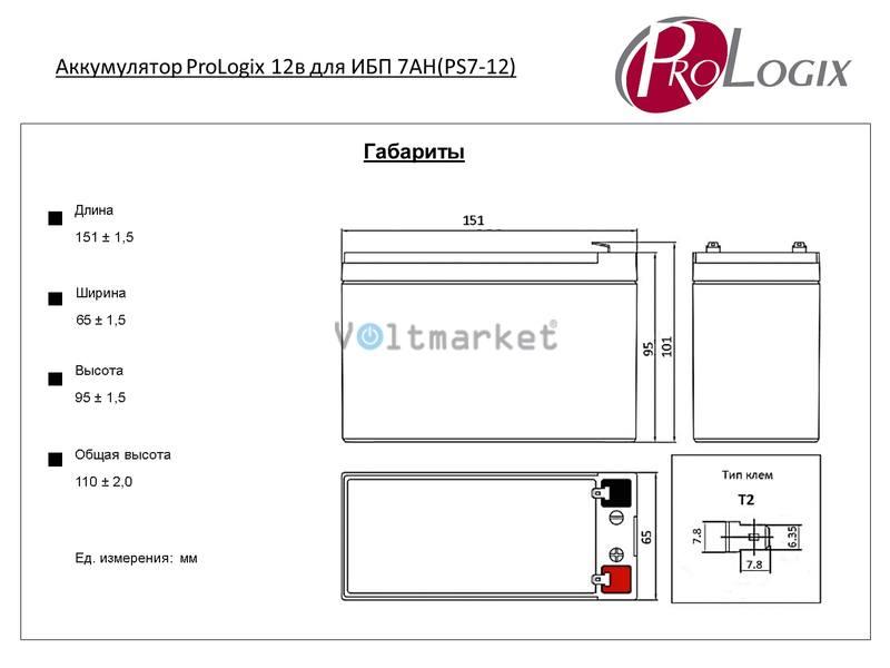 Аккумуляторные батареи Prologix GS7-12