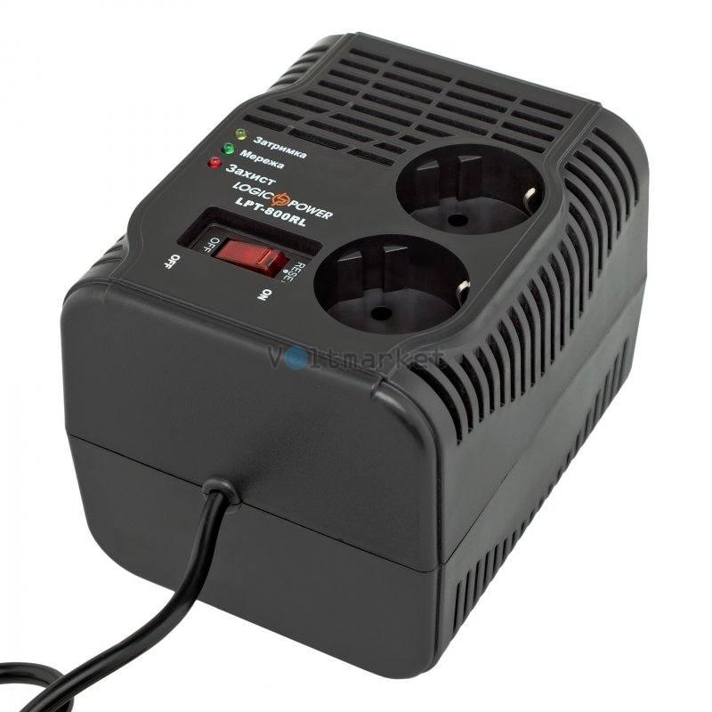 Релейный однофазный стабилизатор напряжения LogicPower LPT-800RL