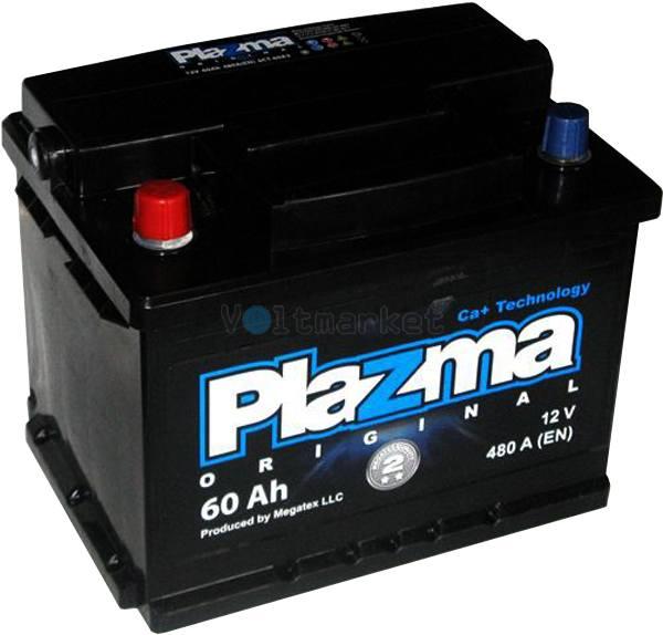 Аккумулятор стартерный Plazma Original 6СТ-60 560 62 02 L+