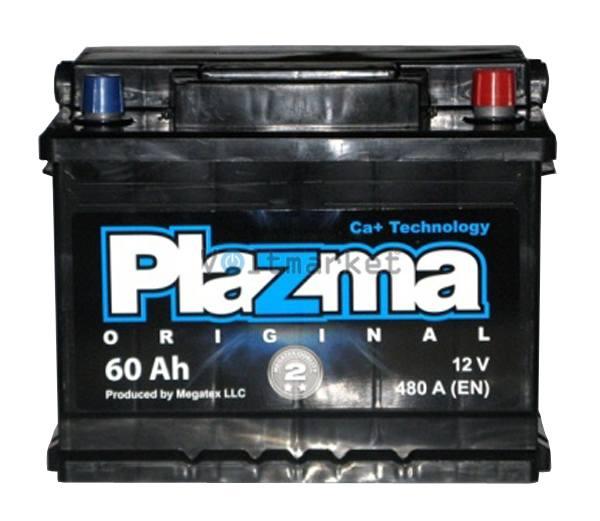 Аккумулятор стартерный Plazma Original 6СТ-60 560 62 04 R+