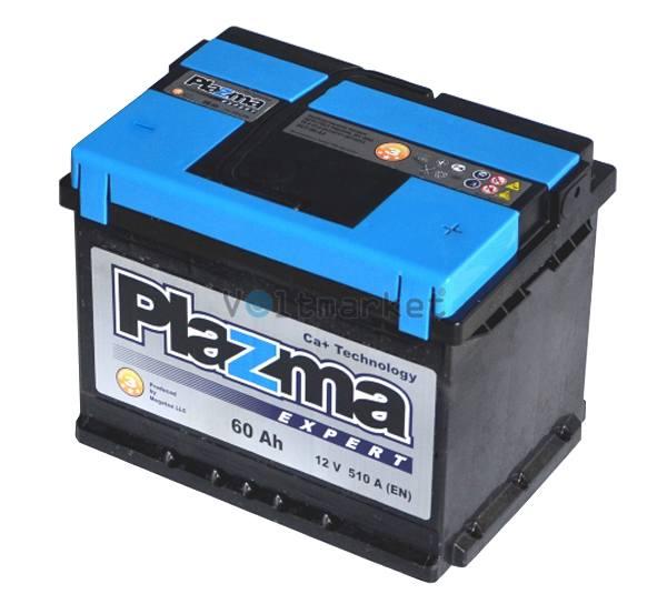 Аккумулятор стартерный Plazma EXPERT 6СТ-60 560 63 04 R+