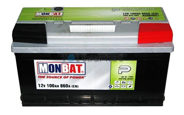 Аккумулятор стартерный MONBAT 6СТ-100 600 70 04 SMF R+