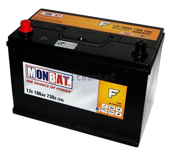 Аккумулятор стартерный MONBAT 6СТ-100 600 70 12 SMF L+