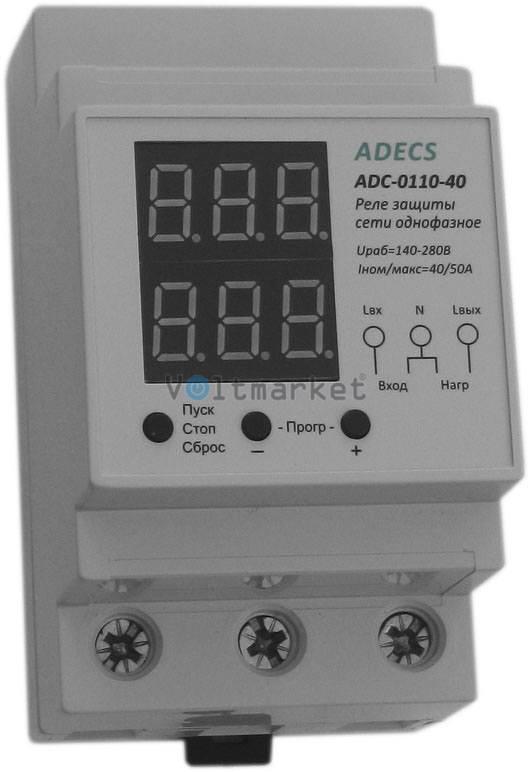 Устройство защиты сети однофазное ADECS ADC-0110-40