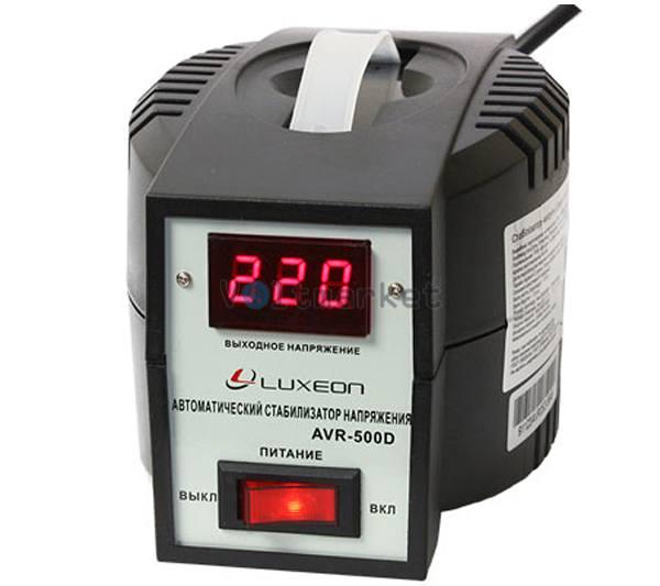 Релейный однофазный стабилизатор напряжения LUXEON AVR-500D black