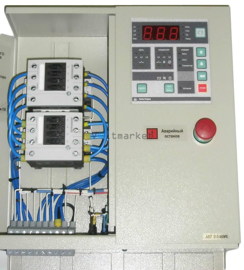 Контроллер автоматического ввода резервного питания Porto Franco АВР313-60МЕ