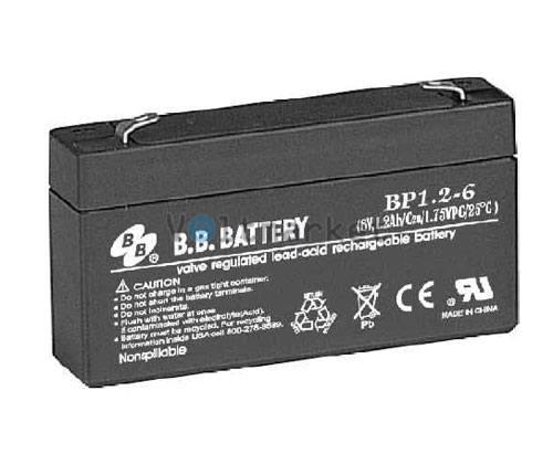 Аккумуляторная батарея B.B. Battery BP1.2-6/T1