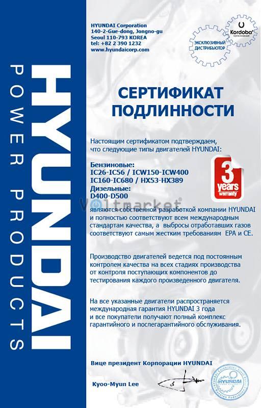 Дизельная электростанция Hyundai DHY8000SE-3