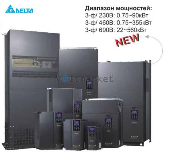 Преобразователь частоты Delta Electronics VFD450C43S