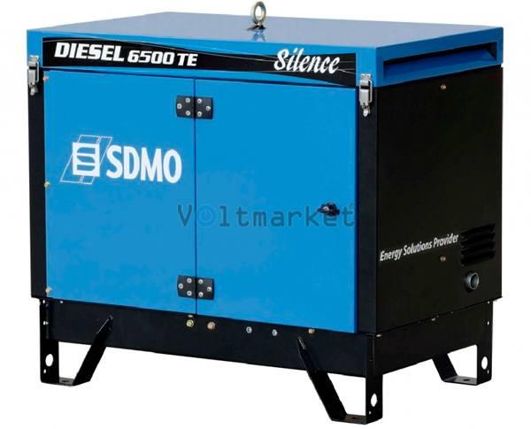трехфазный дизельный генератор SDMO Diesel 6500 TE Silence