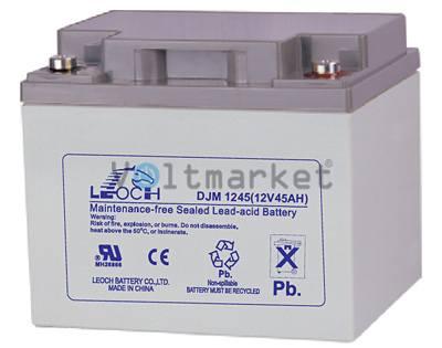 Аккумуляторная герметизированная свинцово-кислотная батарея LEOCH DJM 1245
