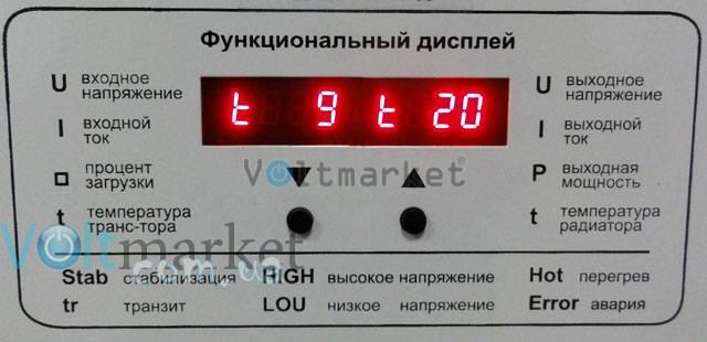 Однофазный стабилизатор напряжения BALANCE СНО-22H12