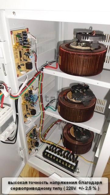 Трёхфазные сервоприводные стабилизаторы напряжения LOGICPOWER ZTY-15KVA 3 PHASE