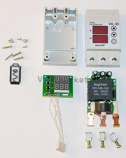 Реле напряжения с индикацией тока нагрузки DIGITOP VА-63