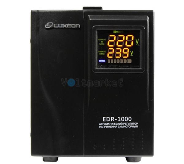 Однофазный электронный стабилизатор напряжения Luxeon EDR-1000