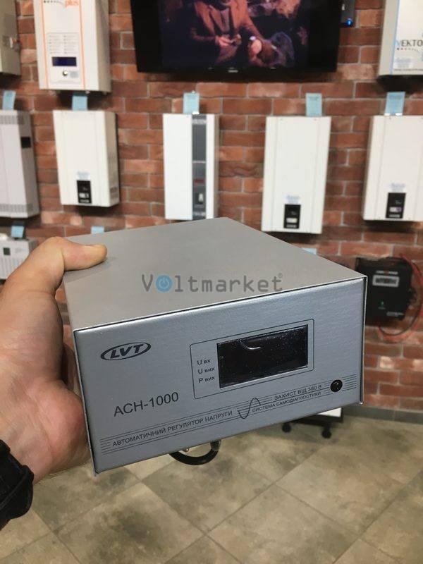 Релейный однофазный стабилизатор напряжения LVT АСН-1000