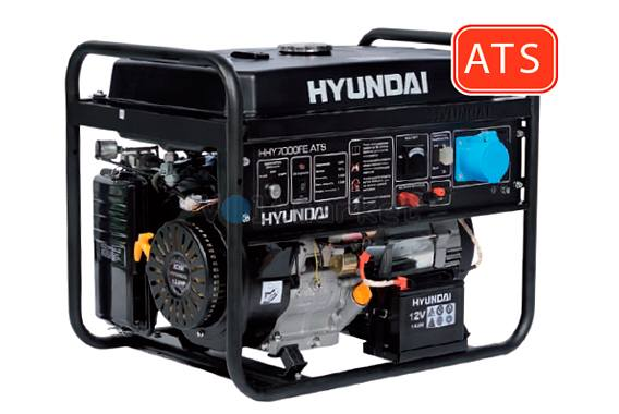 Бензиновая электростанция Hyundai HHY7000FE ATS