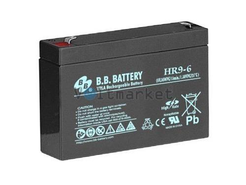 Аккумуляторная батарея B.B. Battery HR9-6/T2