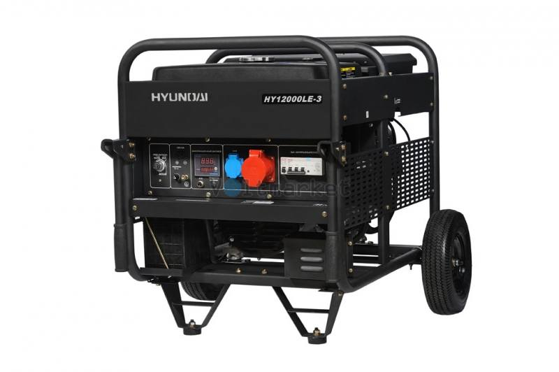 Бензиновая электростанция Hyundai HY12000LE-3