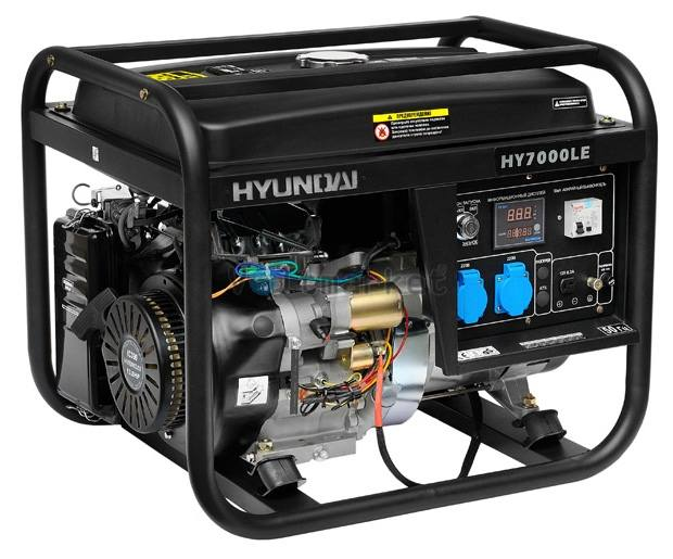 Бензиновая электростанция Hyundai HY7000LE