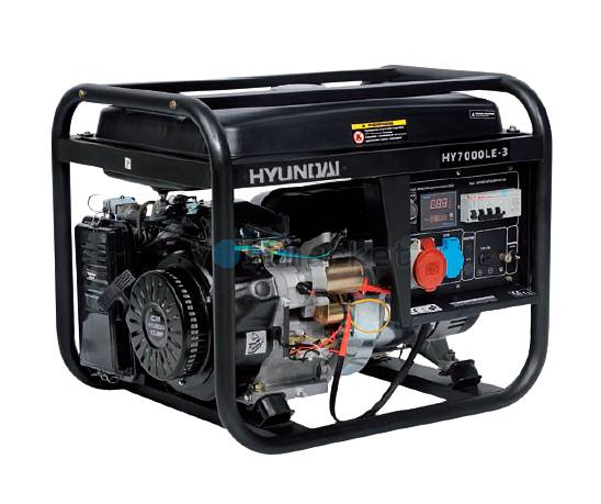 Бензиновая электростанция Hyundai HY7000LE-3
