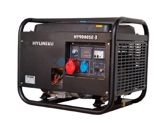 Трехфазный бензиновый генератор Hyundai HY9000SE-3