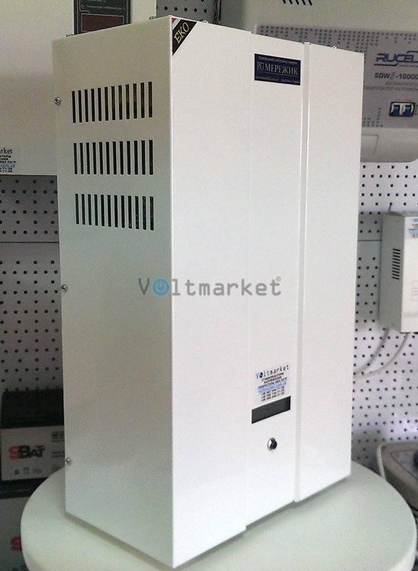 Электронный однофазный стабилизатор напряжения МЕРЕЖИК-14000-9 ЕКО