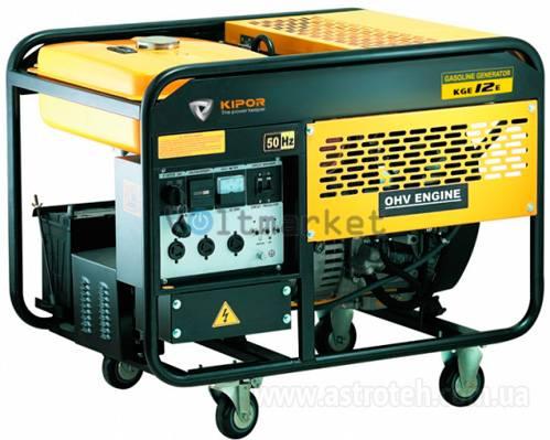 Однофазный бензиновый генератор KIPOR KGE12E