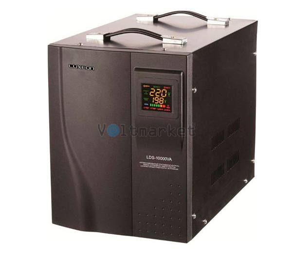 однофазный сервоприводный стабилизатор напряжения LUXEON LDS-10000 SERVO