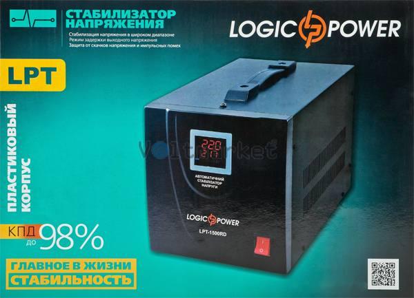 Релейный однофазный стабилизатор напряжения LogicPower LPT-1500RD Black